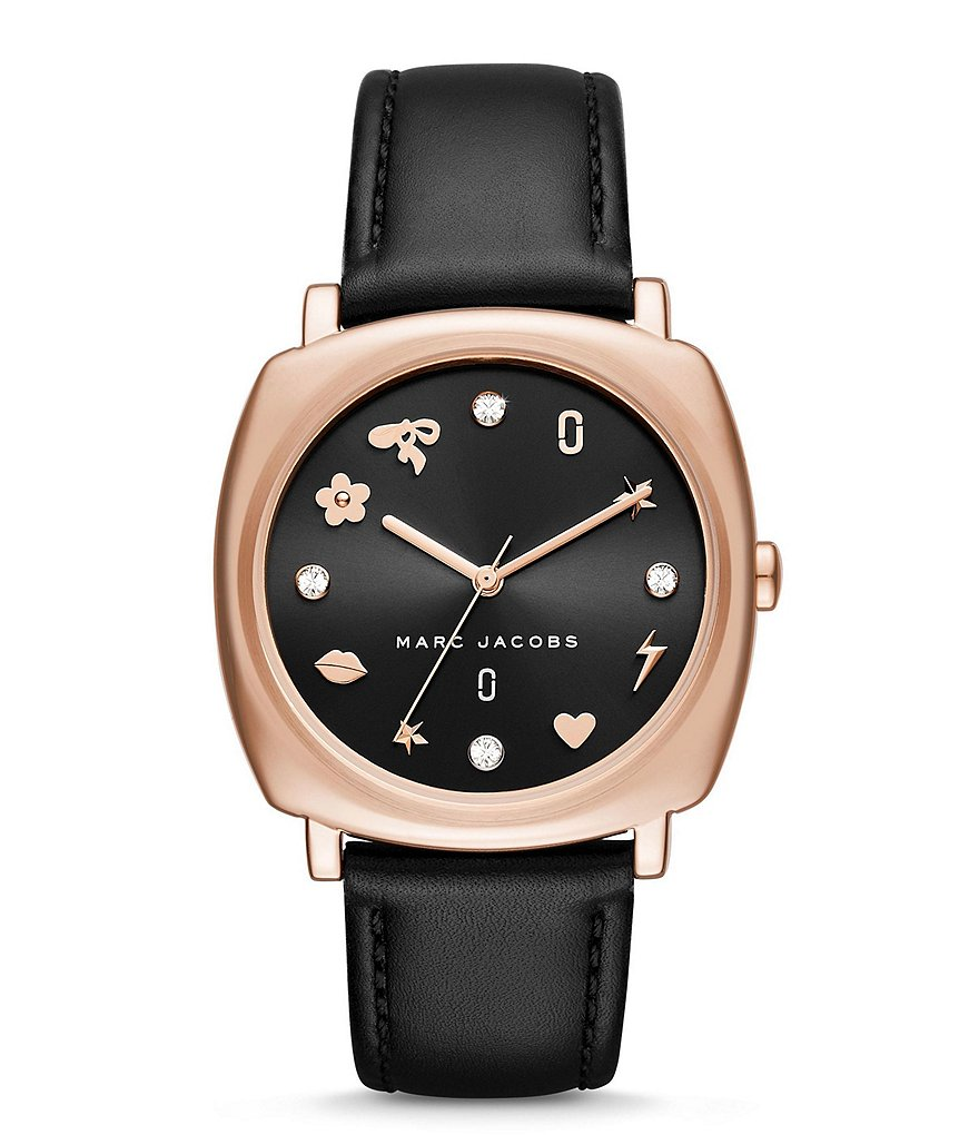 Marc Jacobs Mandy Analog Leather-Strap Watch