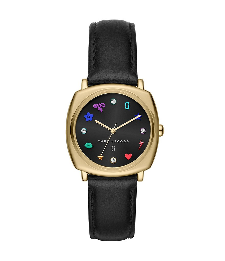 Marc Jacobs Mandy Charm-Index Analog Leather-Strap Watch