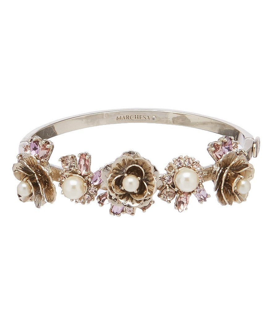 Marchesa Flower Bangle Bracelet