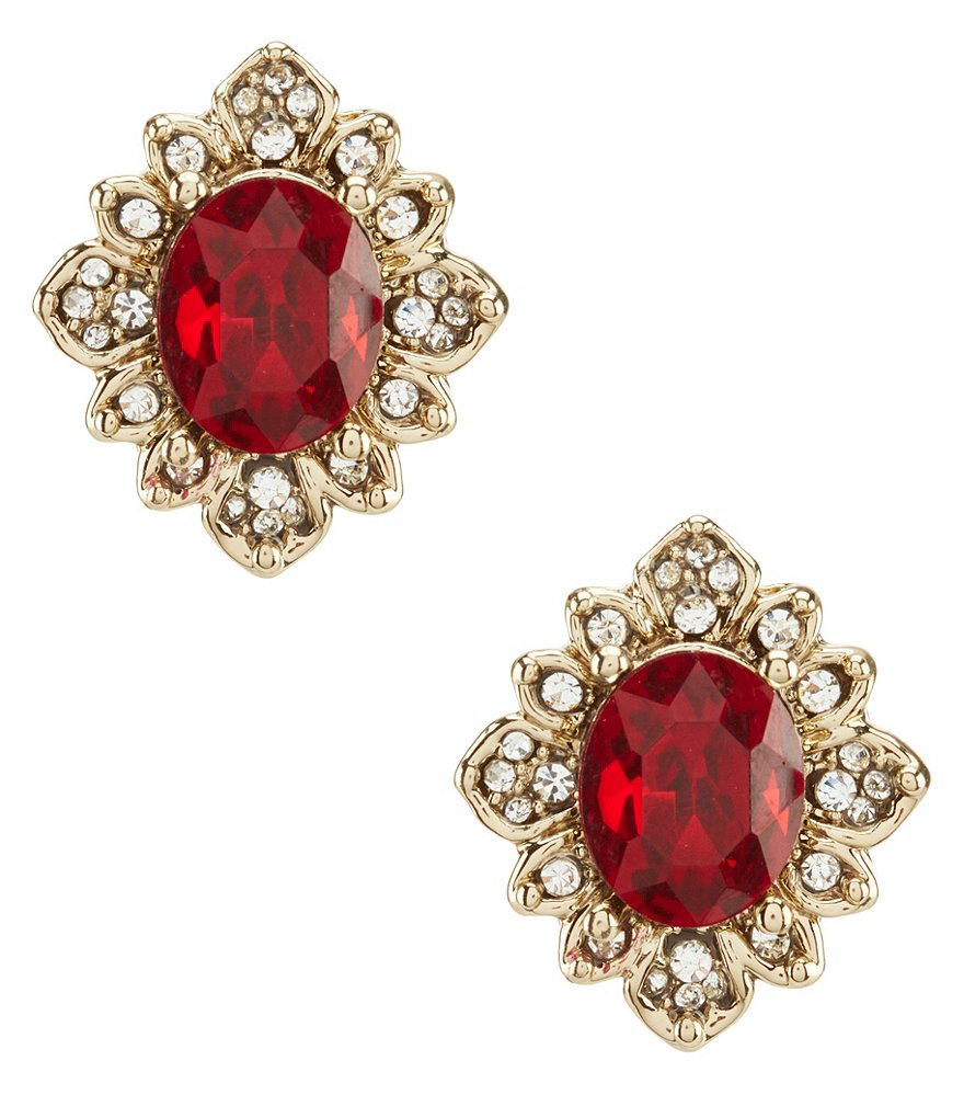 Marchesa Soiree Faceted Stud Statement Earrings