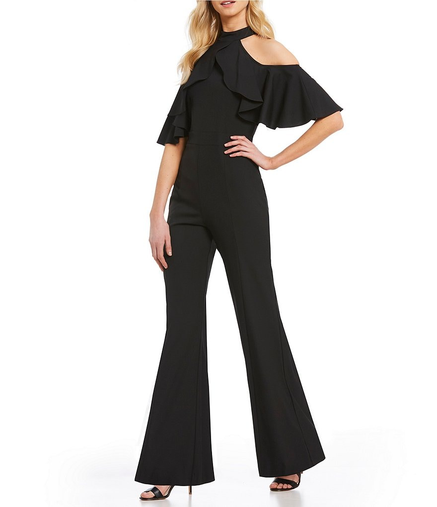 Marina Halter Cold Shoulder jumpsuit