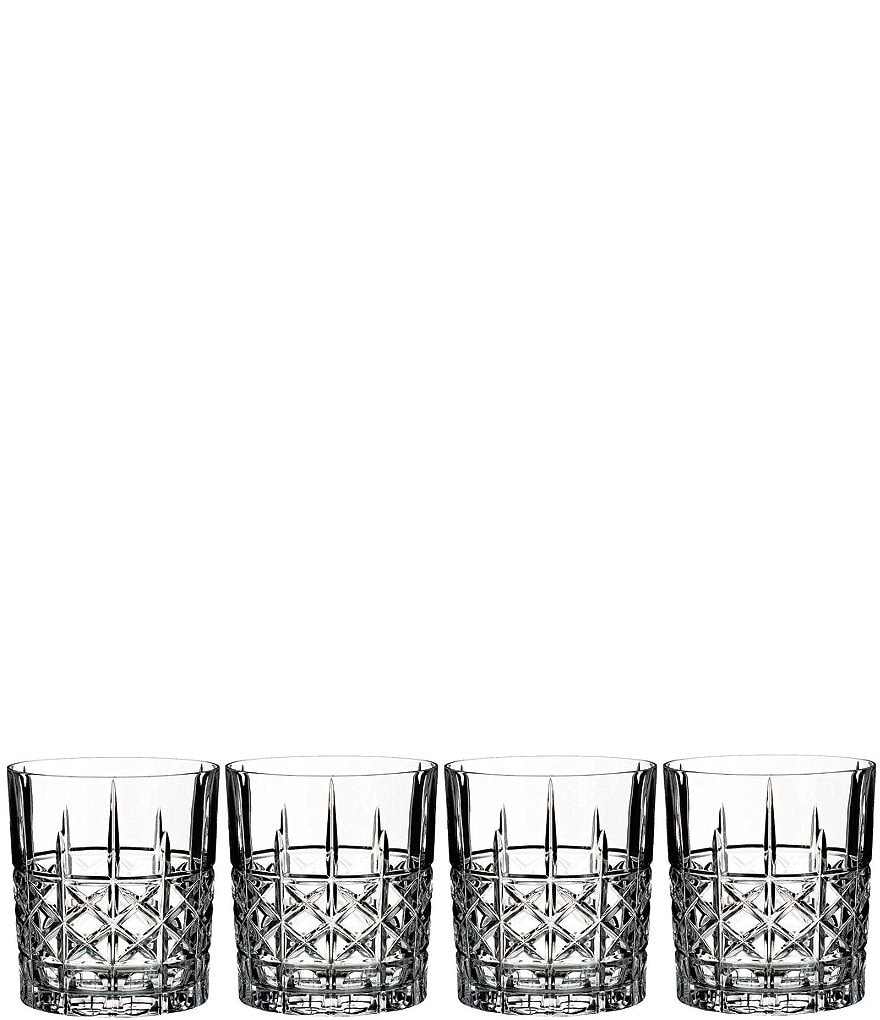 Marquis by Waterford Brady Crystal Double Old Fashioned Glasses, Set of 4