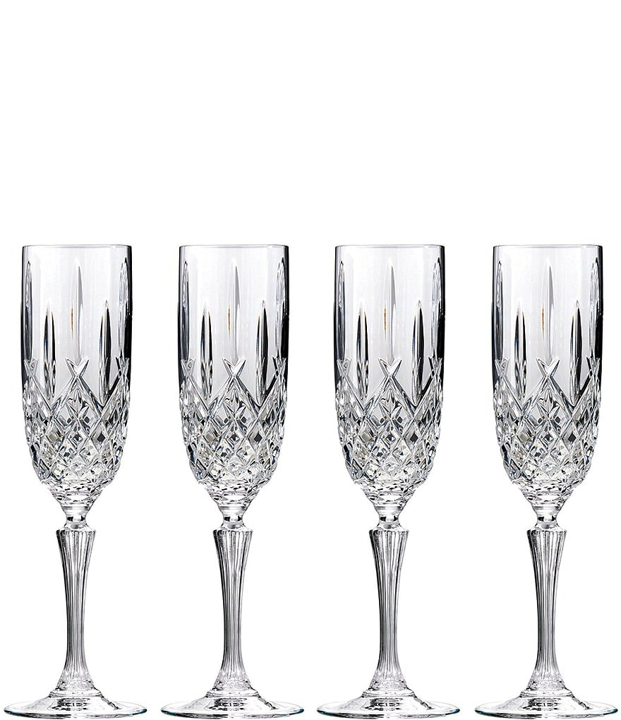 Marquis by Waterford Markham Traditional Crystal Flutes, Set of 4