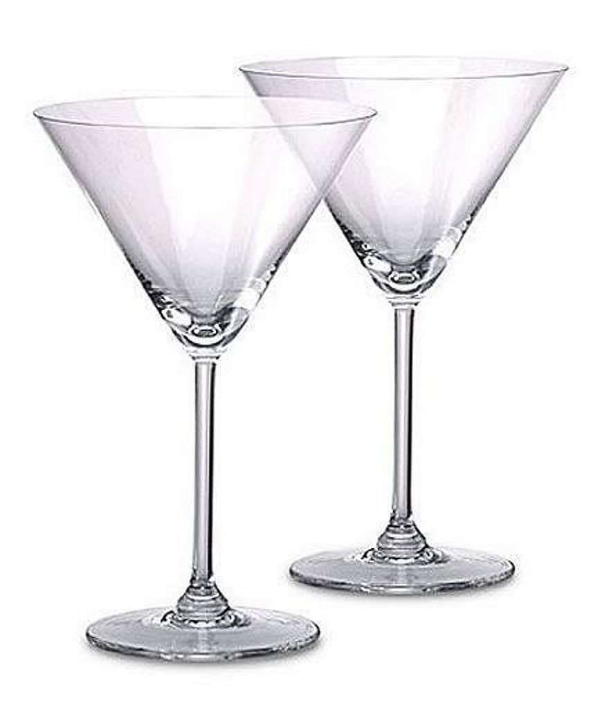 Marquis by Waterford Vintage Collection Oversized Crystal Martini Glass Pair