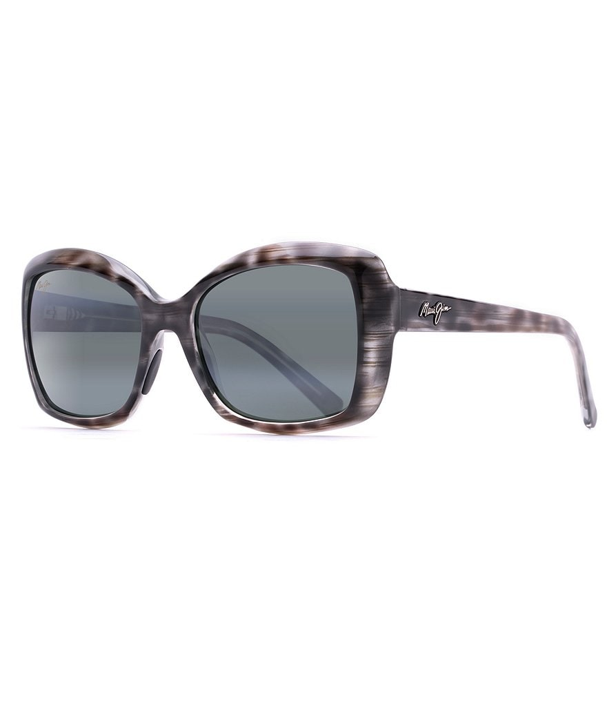 Maui Jim Orchid Polarized Oversized Square Sunglasses