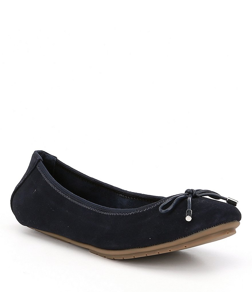 Me Too Halle Suede String Bow Flats