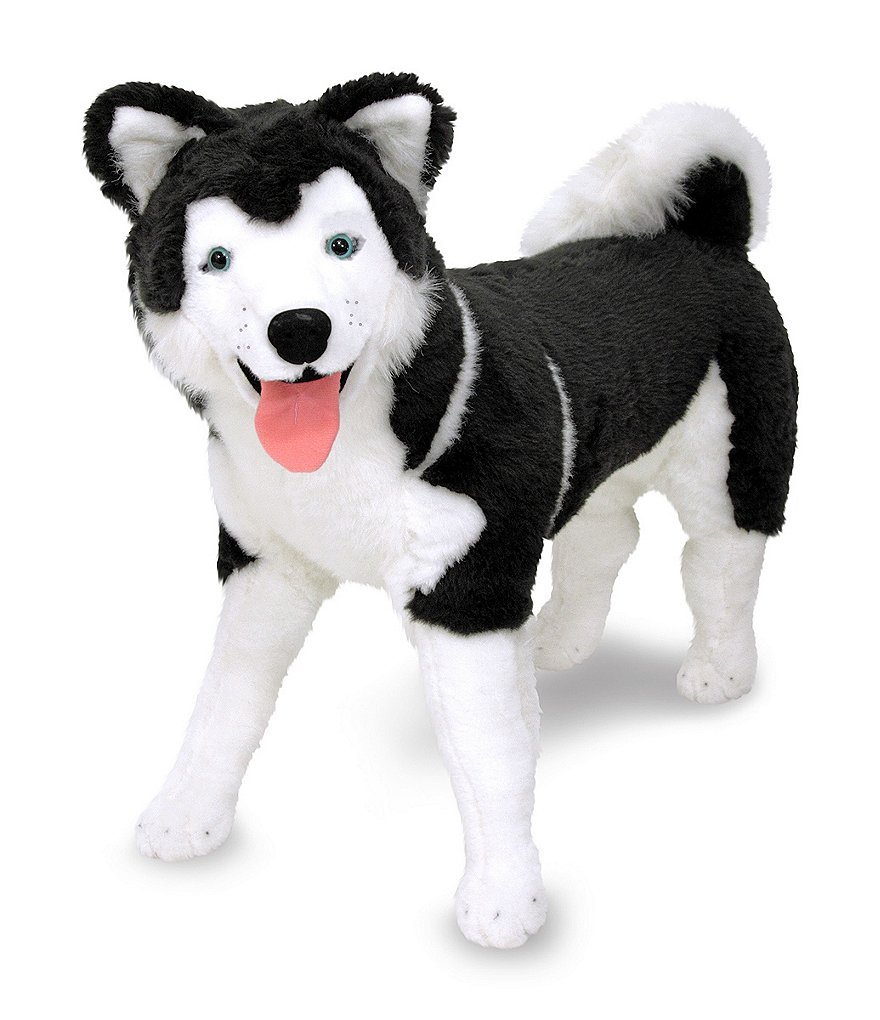 Melissa & Doug 10#double; Husky Giant Stuffed Animal