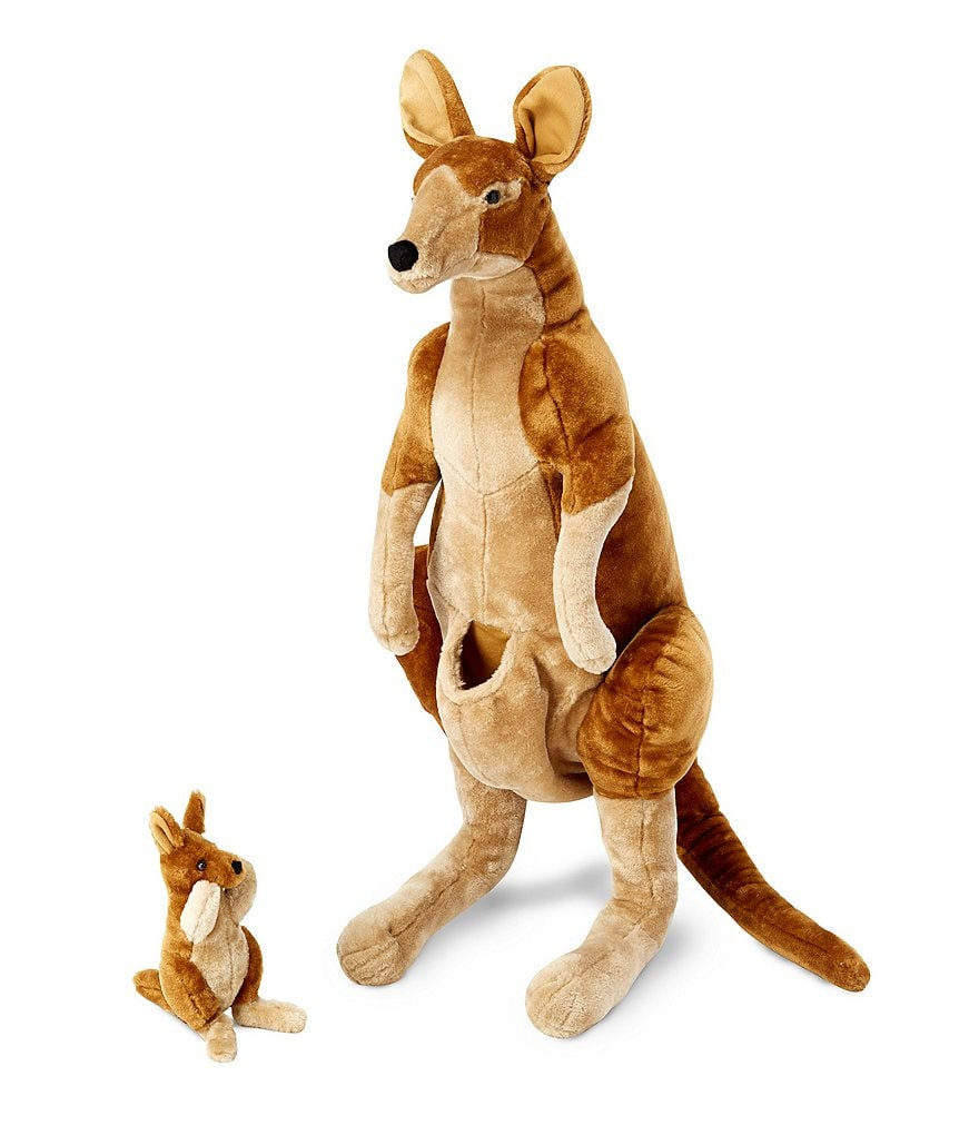 Melissa & Doug Kangaroo and Joey Lifelike Stuffed Animal