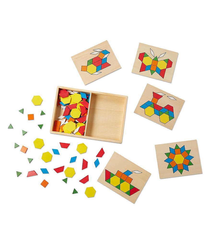 Melissa & Doug Pattern Blocks and Boards Puzzle Toy Set