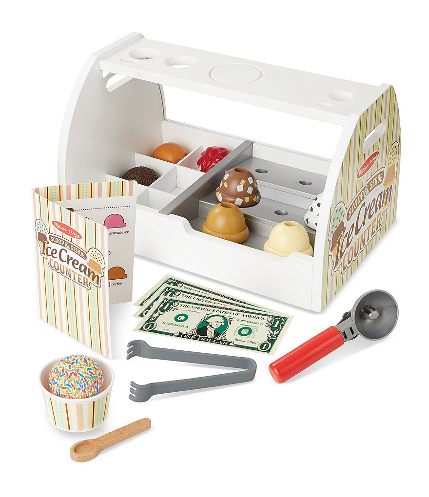 Melissa & Doug Scoop & Serve Ice Cream Counter Set