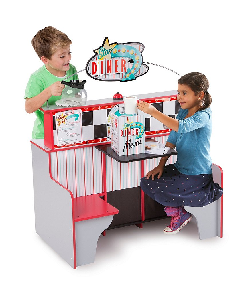 Melissa & Doug Star Diner Restaurant Two-Side Play Set