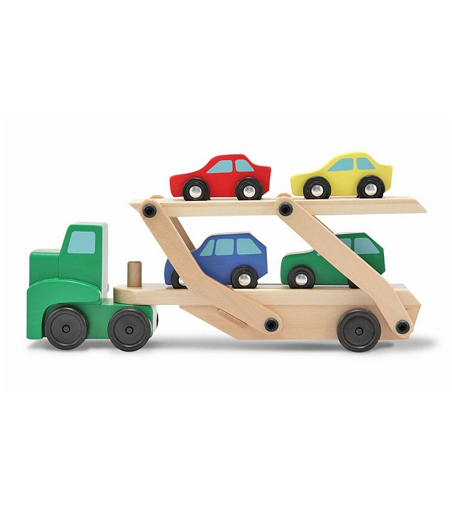 Melissa & Doug Wooden Car Carrier Set