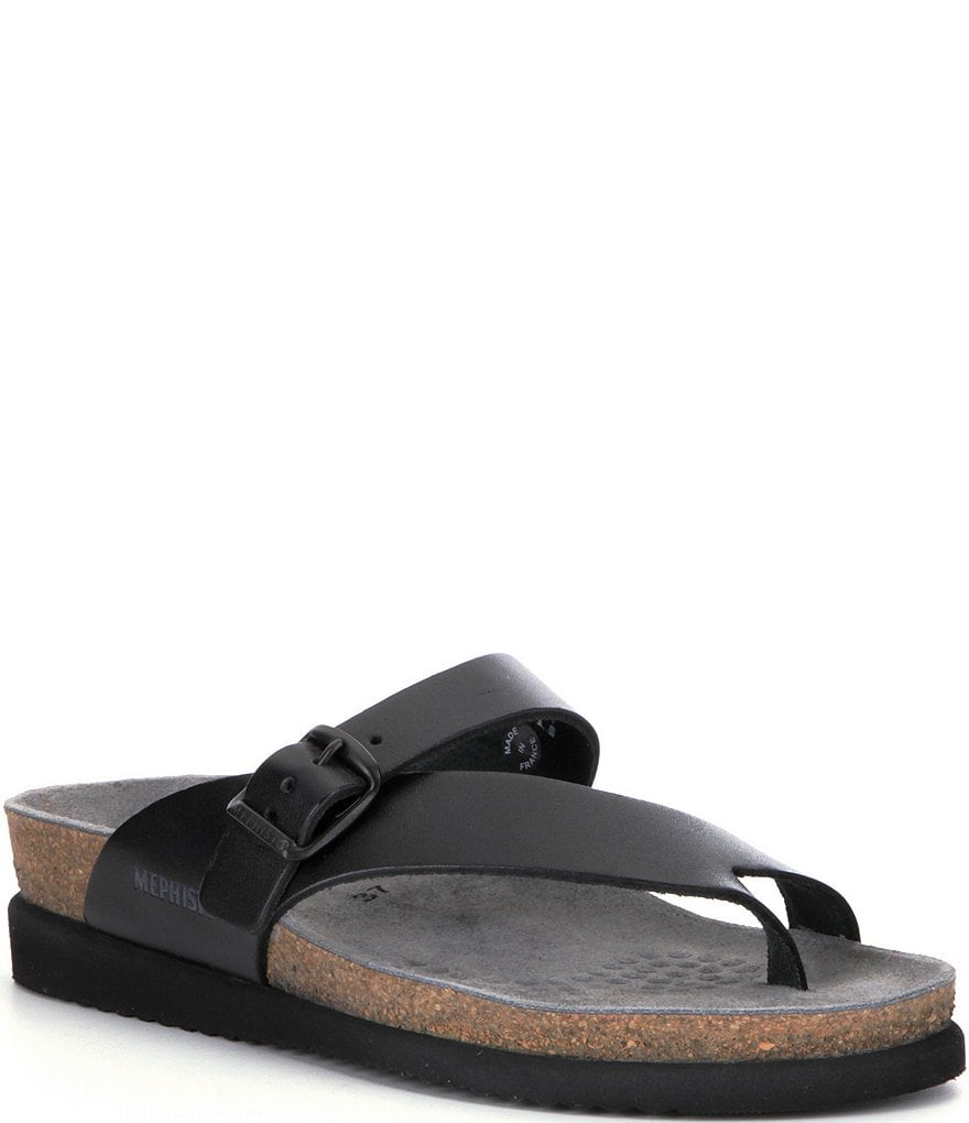 Mephisto Helen Buckle Detail Leather Casual Sandals