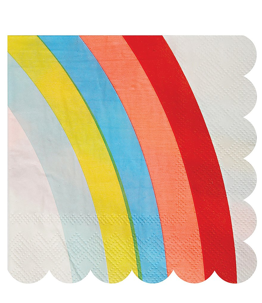 Meri Meri 20-Pack Rainbow Party Napkins