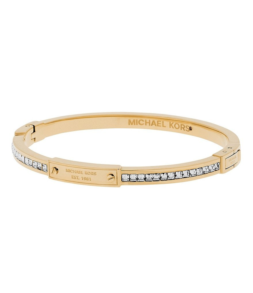 Michael Kors Baguette Crystal Bangle Bracelet