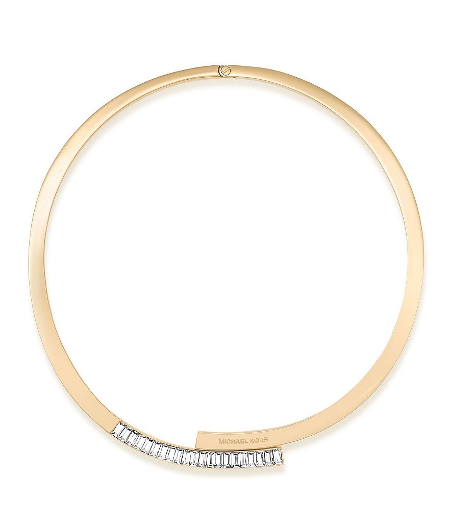 Michael Kors Baguette Crystal Hinge Collar Necklace