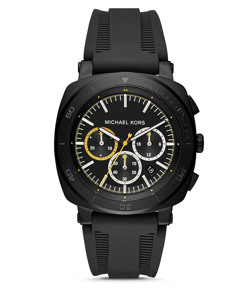 Michael Kors Bax Chronograph Silicone-Strap Watch
