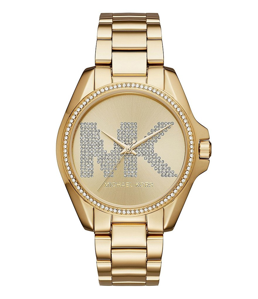 Michael Kors Bradshaw Logo Dial Gold-Tone Watch