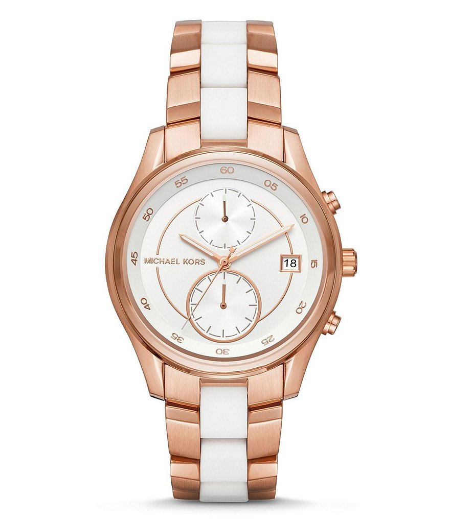 Michael Kors Briar Multifunction Silicone & Stainless Steel Bracelet Watch