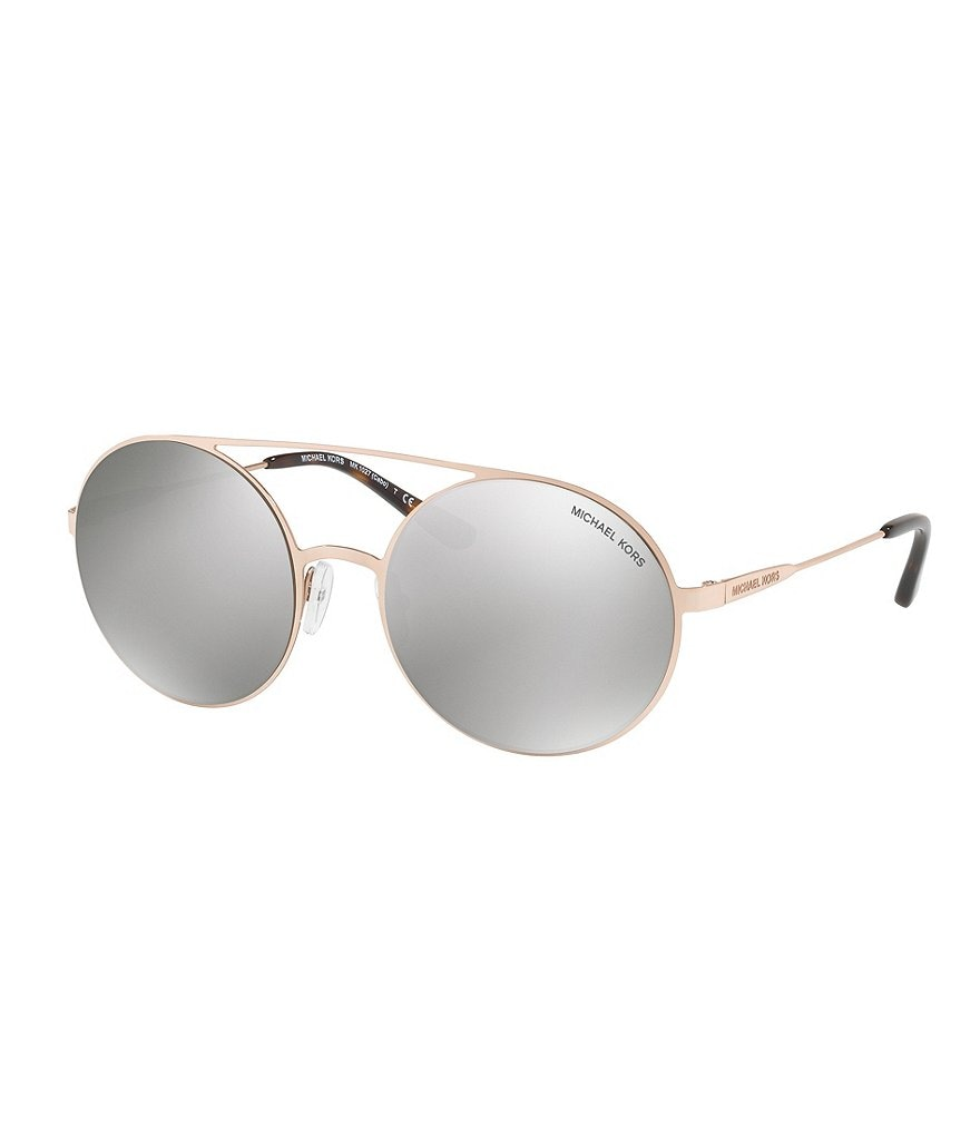 Michael Kors Cabo Mirrored Round Sunglasses