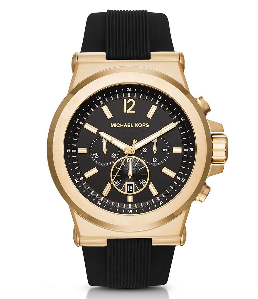 Michael Kors Dylan Gold Tone Chronograph Watch