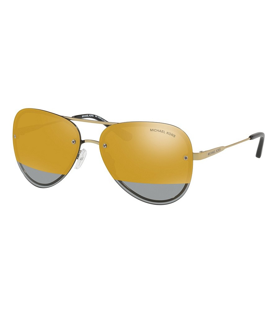 Michael Kors La Jolla Mirrored Rimless Aviator Sunglasses