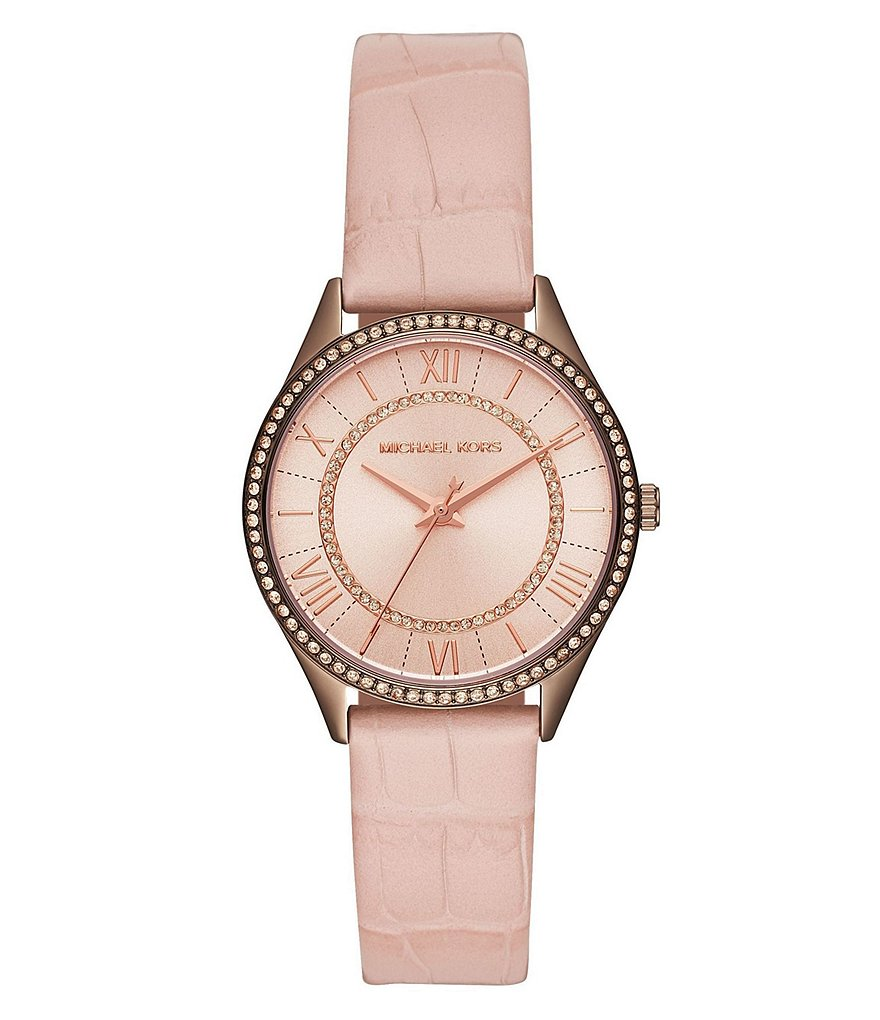 Michael Kors Ladies' Portia Pavé Sable and Croc Leather Watch