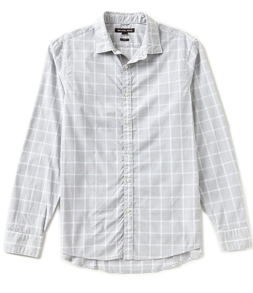 Michael Kors Lewis Slim-Fit Check Long-Sleeve Woven Shirt