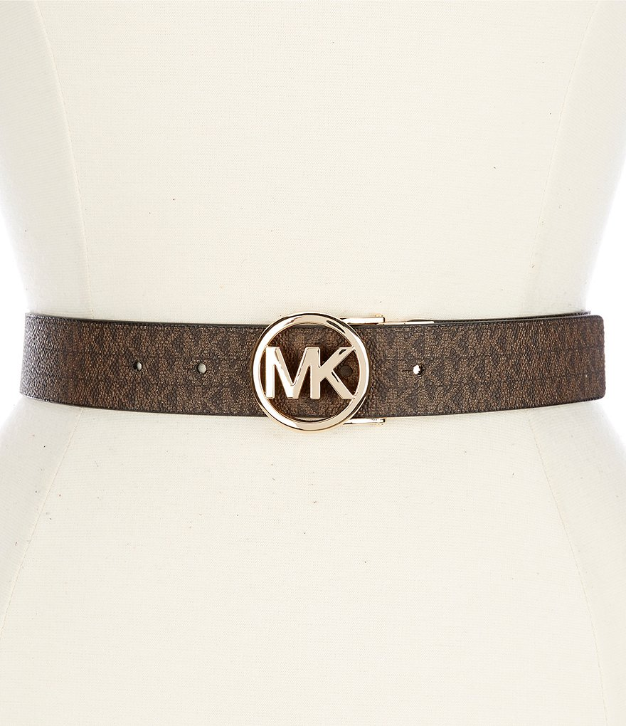 Michael Kors Reversible Logo Buckle PVC Belt