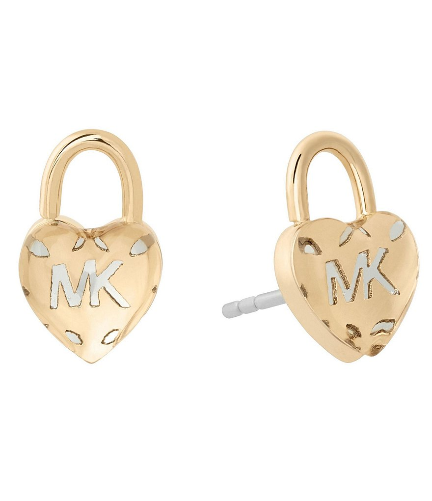 Michael Kors Logo Love Stud Earrings