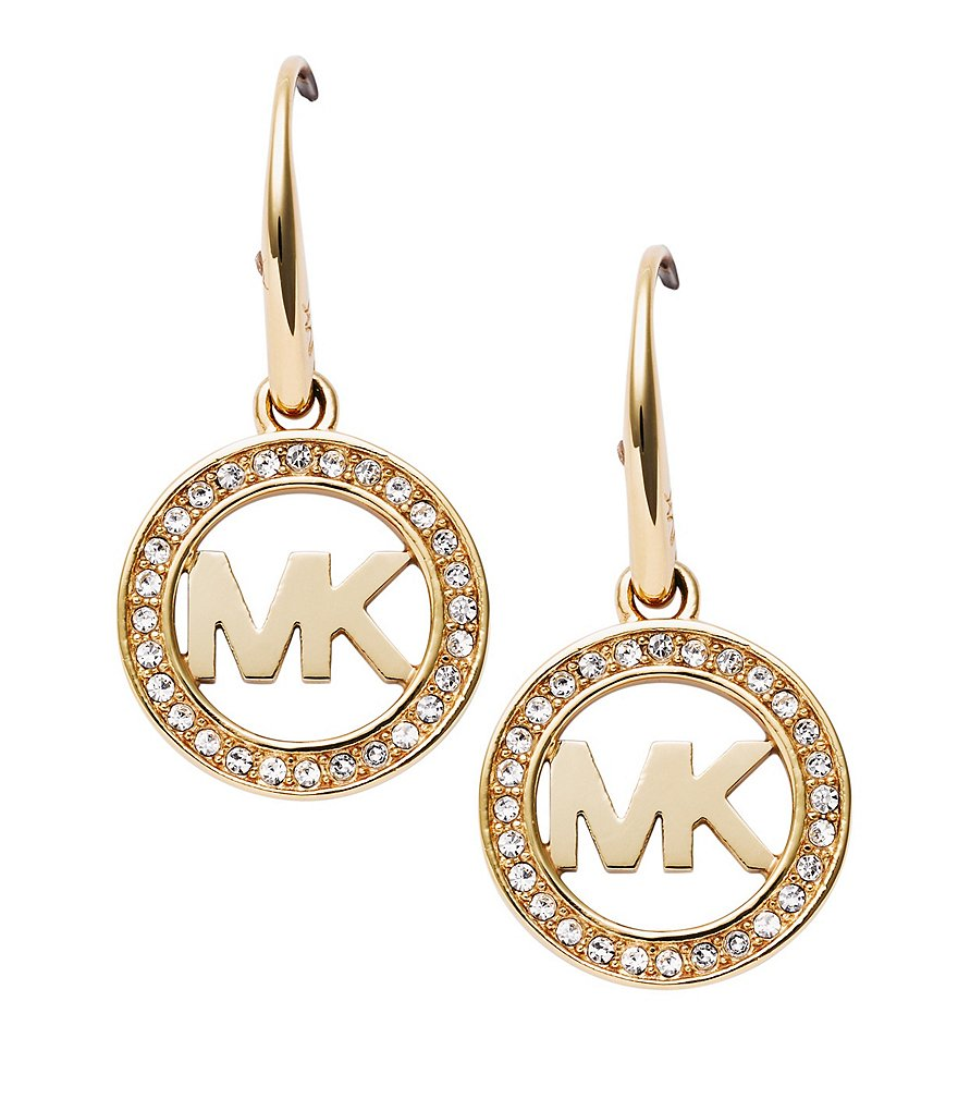Michael Kors Logo Pavé Drop Earrings