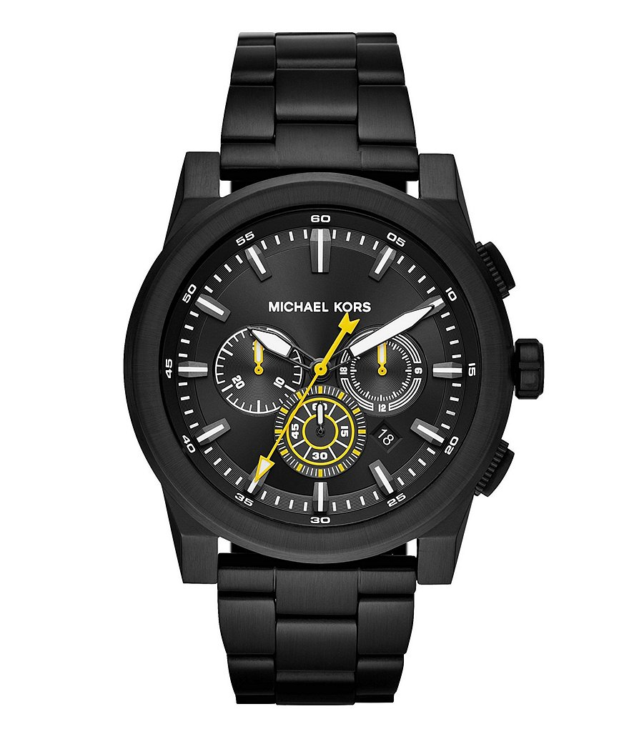 Michael Kors Men's Grayson Black IP Chronograph Watch