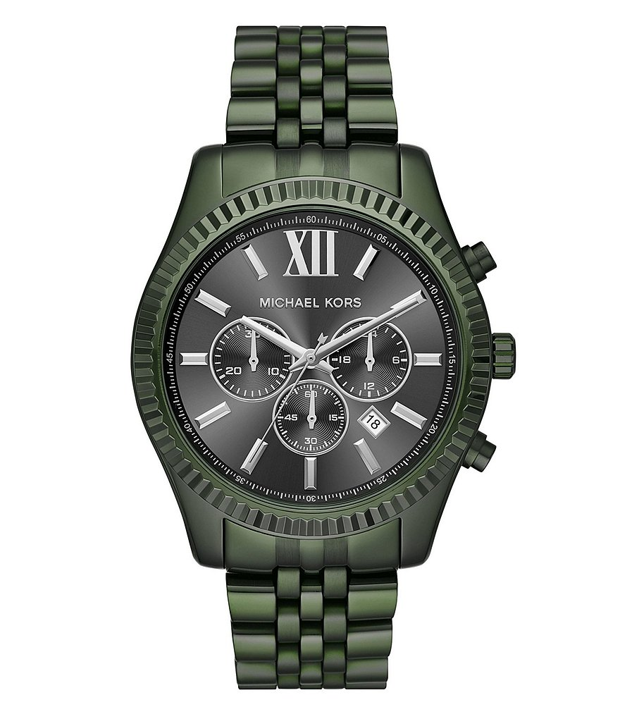 Michael Kors Men's Lexington Olive IP Watch