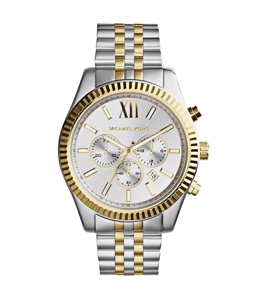 Michael Kors Men's Lexington Two-Tone Stainless Steel Chronograph Bracelet Watch