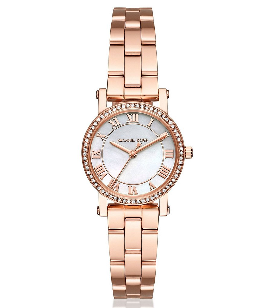 Michael Kors Norie Mother-of-Pearl Analog Bracelet Watch
