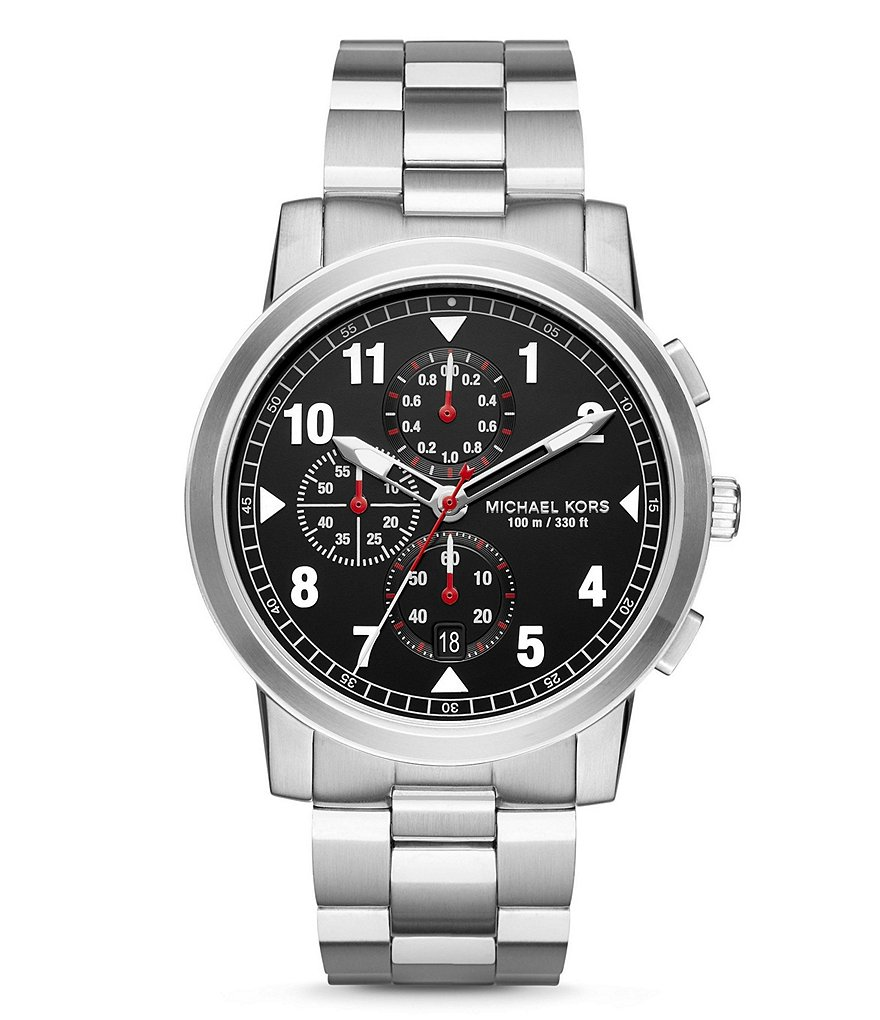 Michael Kors Paxton Chronograph Stainless Steel Bracelet Watch