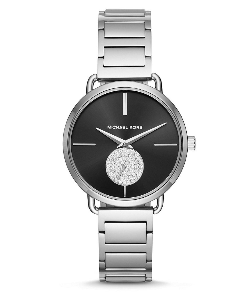 Michael Kors Portia Chronograph Stainless Steel Bracelet Watch