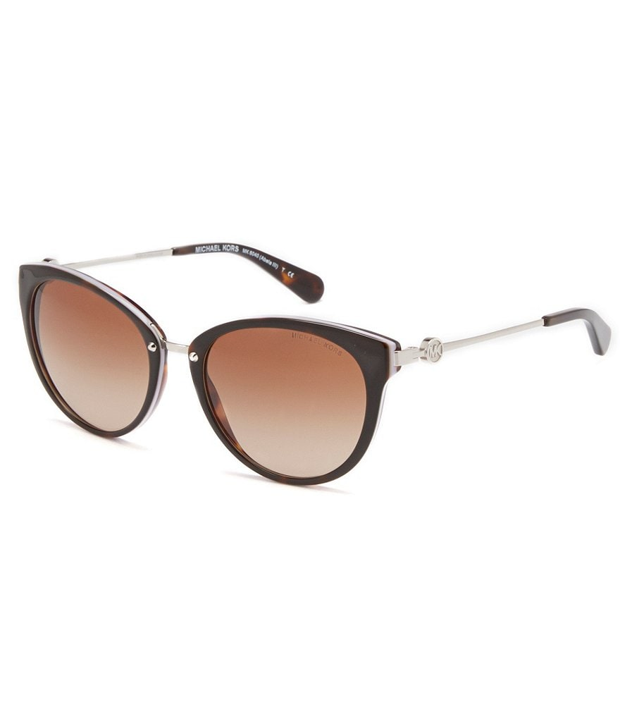 Michael Kors Punched Logo Round Cat-Eye Sunglasses