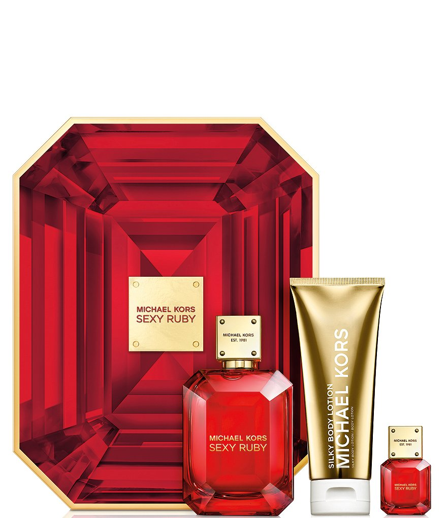 Michael Kors Sexy Ruby 3 Piece Deluxe Gift Set