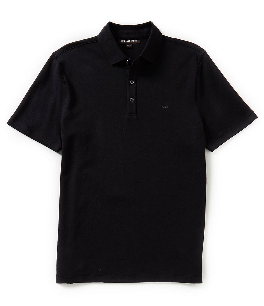 Michael Kors Short-Sleeve Liquid Solid Polo Shirt