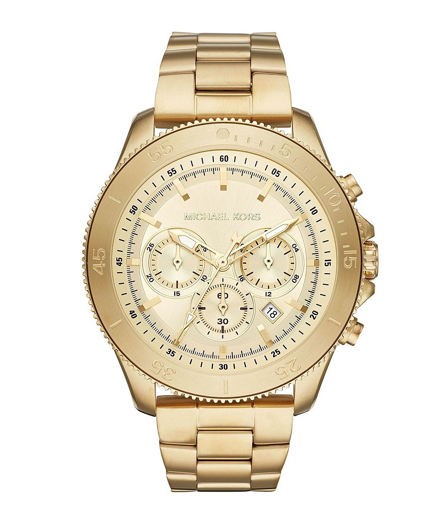 Michael Kors Theroux Chronograph Gold-Tone Stainless Steel Watch