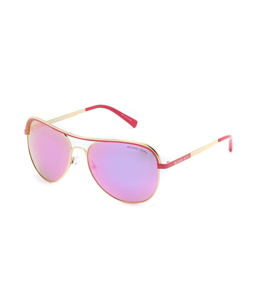 Michael Kors Vivianna I Mirrored Aviator Sunglasses