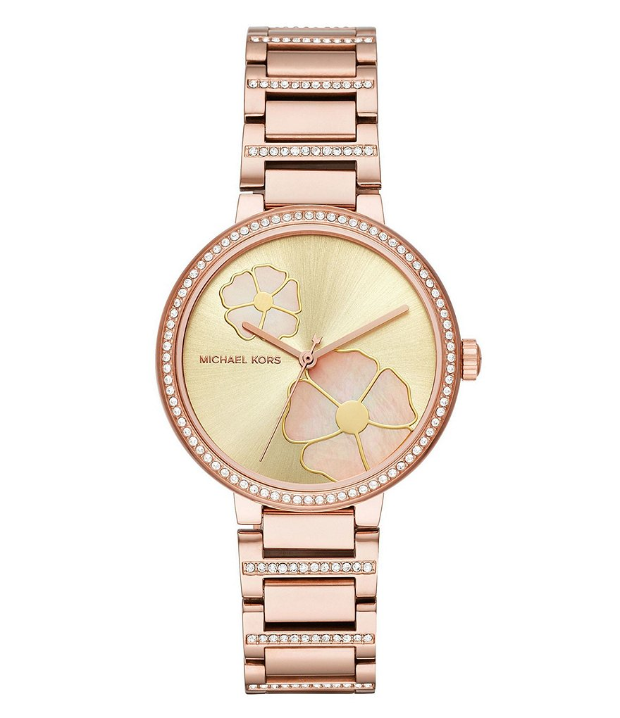 Michael Kors Women's Courtney Rose Gold-Tone Watch