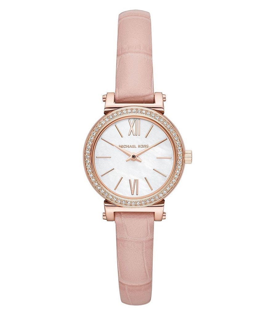 Michael Kors Women's Sofie Stainless-Steel and Leather Watch