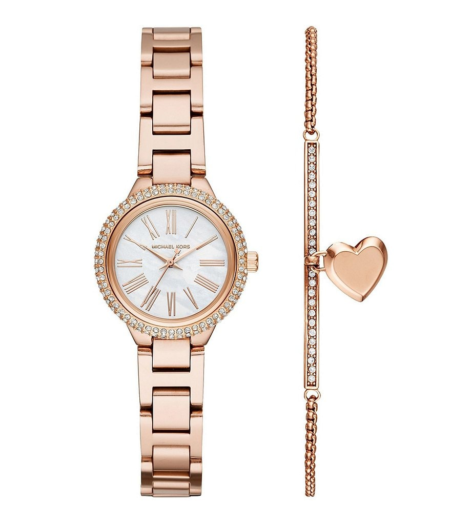 Michael Kors Women's Taryn Rose Gold-Tone Watch Set