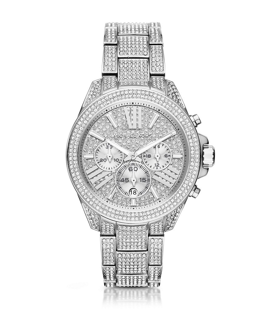 Michael Kors Wren Stainless Steel Pavé Chronograph Watch