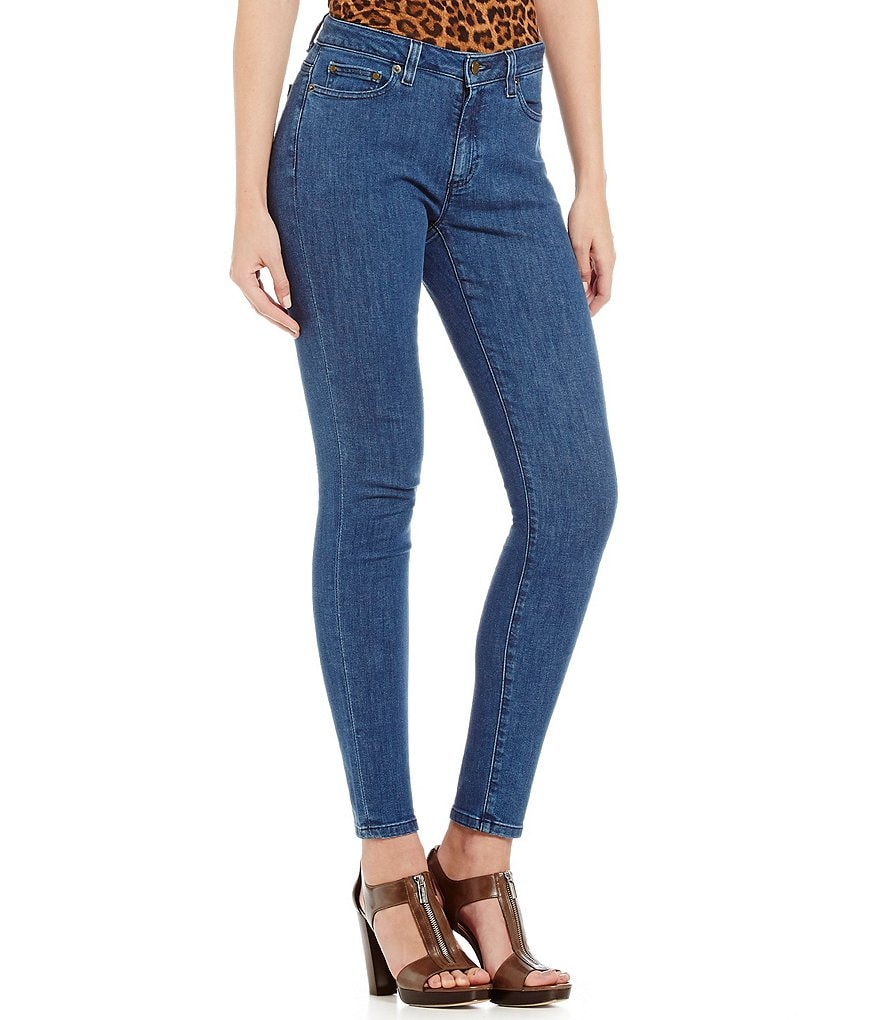 MICHAEL Michael Kors Antique Wash Stretch Denim Skinny Jeans