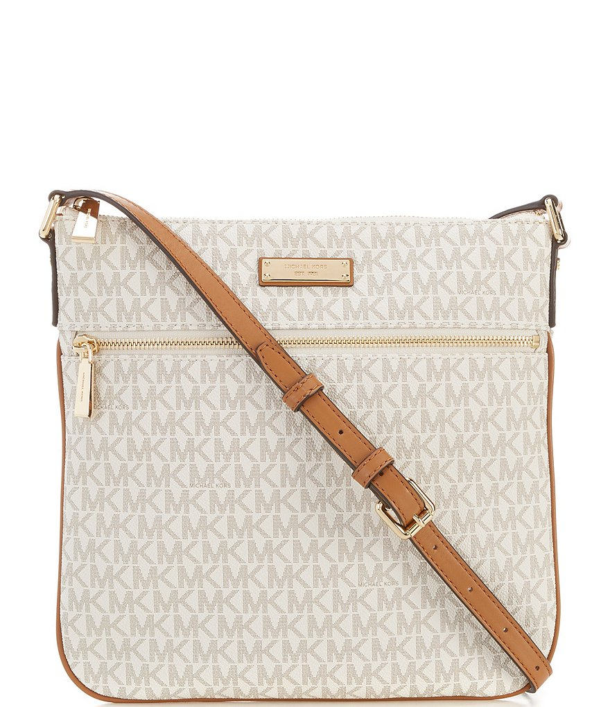 michael michael kors bedford signature flat cross body bag dillard s rh dillards com