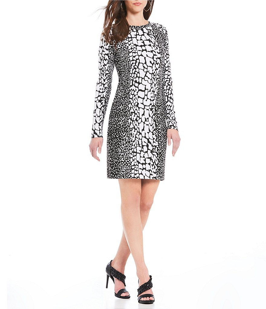 MICHAEL Michael Kors Crocodile Skin Print Ponte Knit Dress