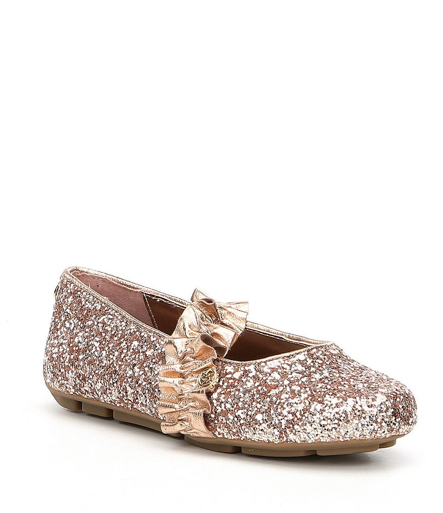 MICHAEL Michael Kors Girls' Rover Ruff Glitter Ballerina Shoes